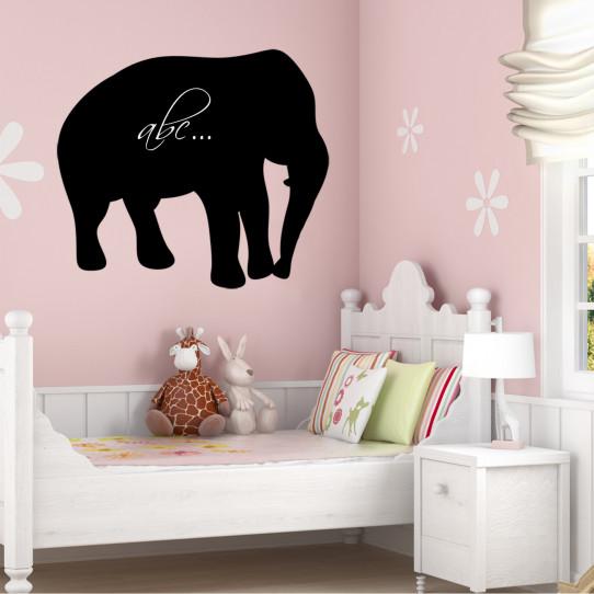 Stickers ardoise éléphant