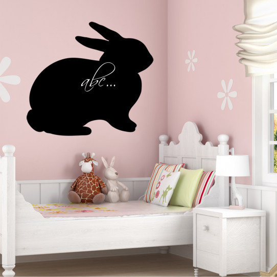 Stickers ardoise lapin
