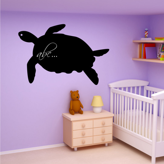 Stickers ardoise tortue