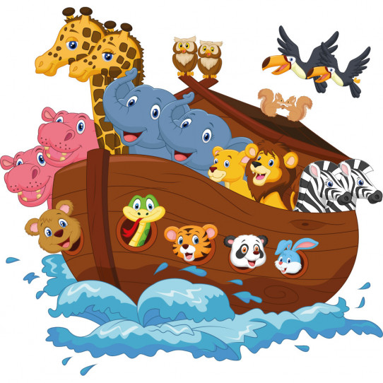 Stickers bateau animaux