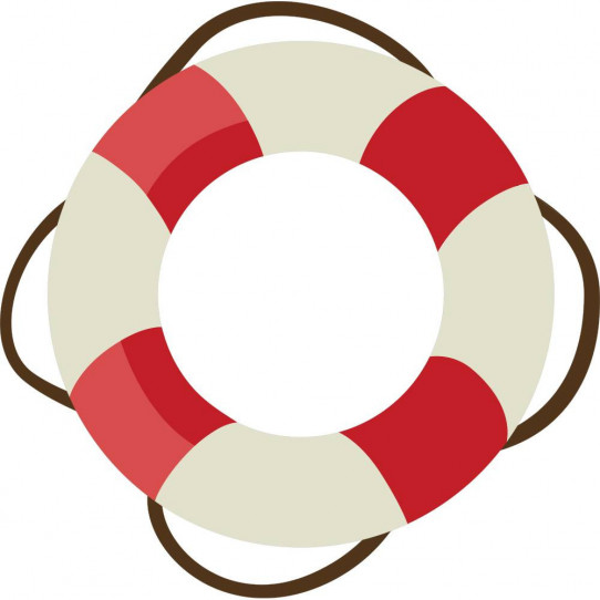 Stickers bouée de sauvetage