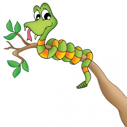 Stickers Branche Serpent