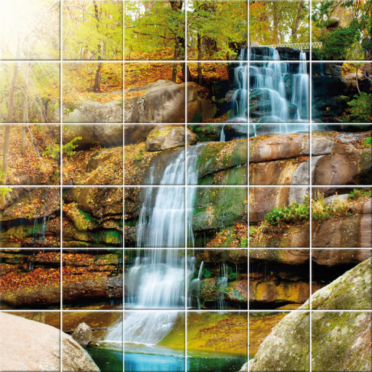 Stickers carrelage cascade