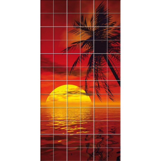 stickers carrelage mer couche soleil des prix 50 moins cher qu 39 en magasin. Black Bedroom Furniture Sets. Home Design Ideas