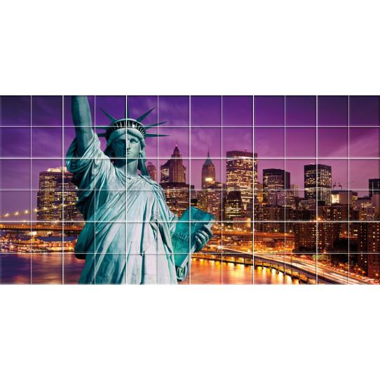 Stickers carrelage statue de la liberté