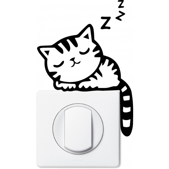 Stickers chat pour prise et interrupteur