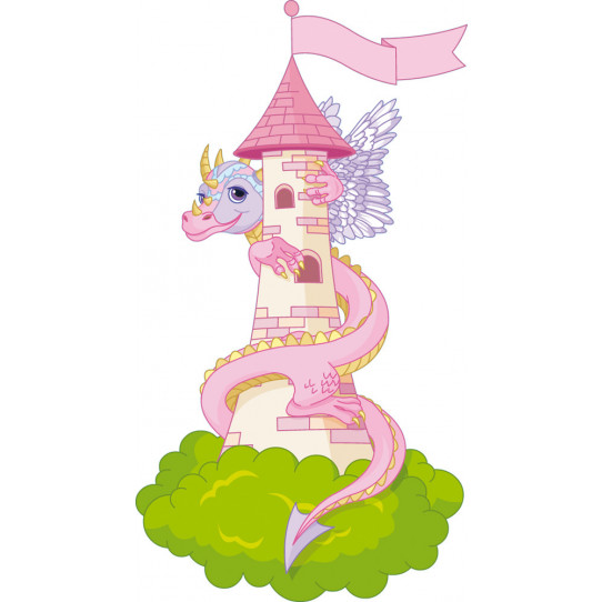 Stickers chateau et dragon