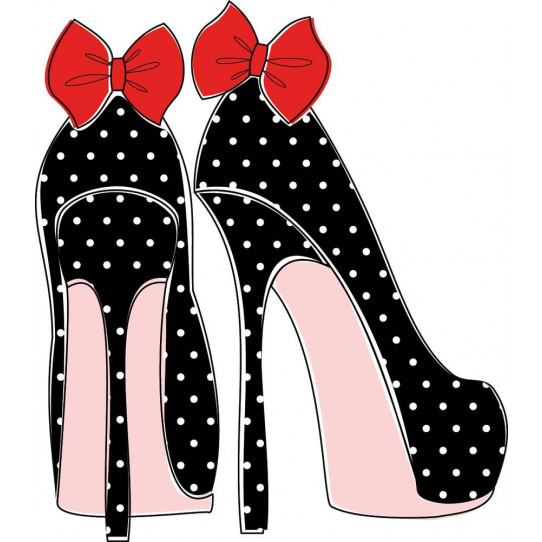 Stickers chaussure noeud rouge