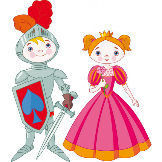 Stickers chevalier et princesse