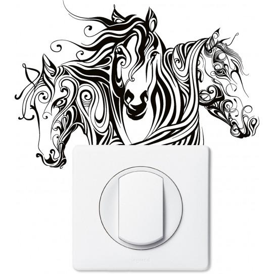 Stickers chevaux pour prise et interrupteur