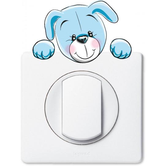 Stickers chien pour prise et interrupteur
