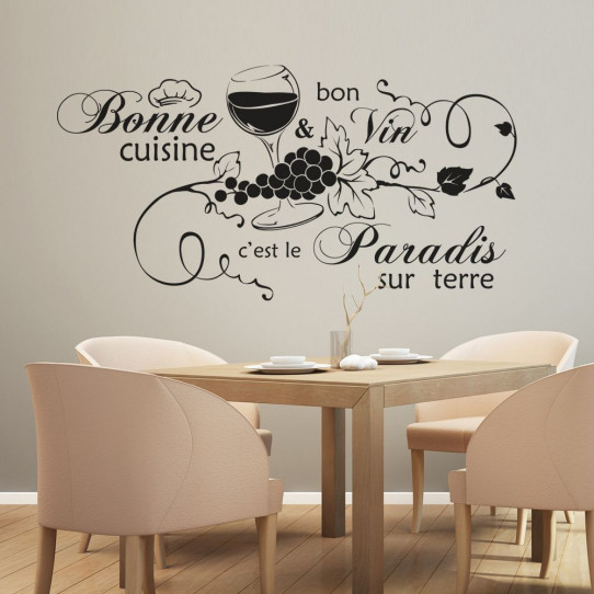 Stickers citation bonne cuisine