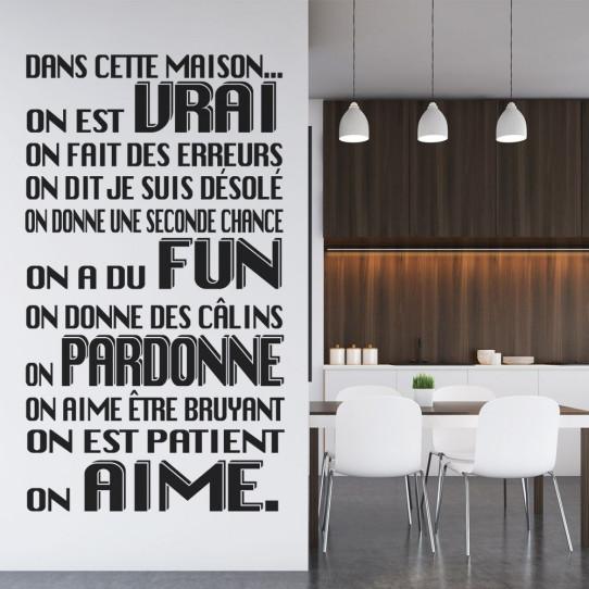 Stickers citation Maison