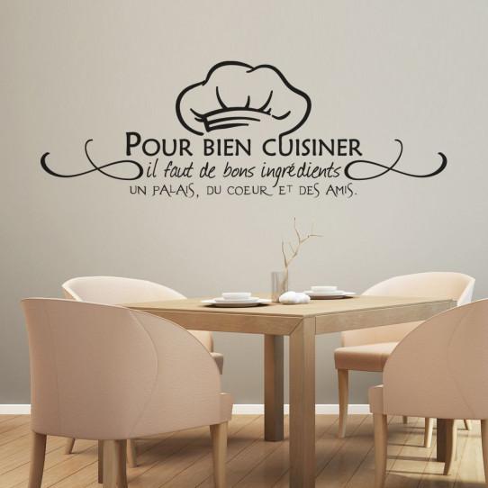 Stickers citation pour bien cuisiner...