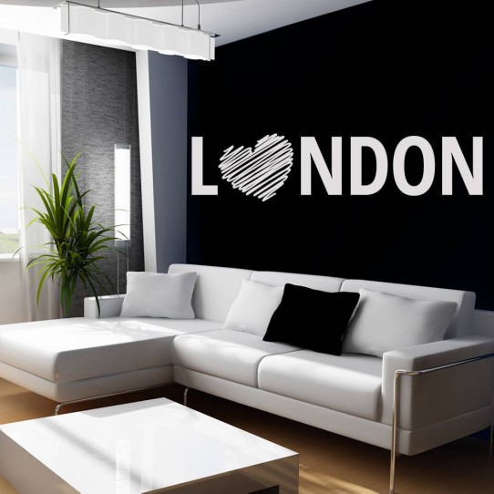 Stickers coeur london