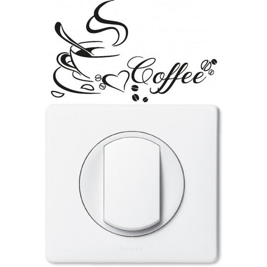 Stickers coffee pour prise et interrupteur