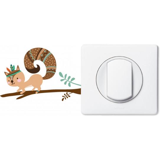 Stickers écureuil pour prise et interrupteur