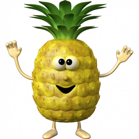Stickers effet 3D- Ananas