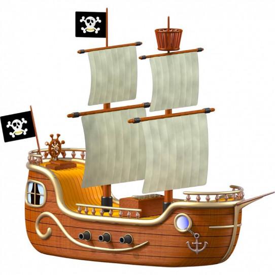 Stickers effet 3D- Bateau pirate