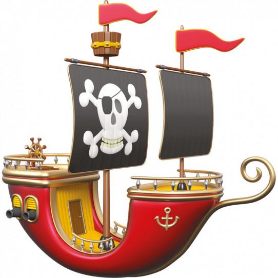 Stickers effet 3D- Bateau pirate 3