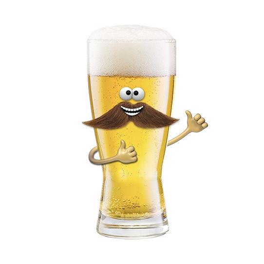 Stickers effet 3D Bière