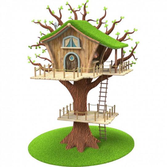 Stickers effet 3D - Cabane sur l'arbre