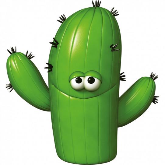 Stickers effet 3D- Cactus