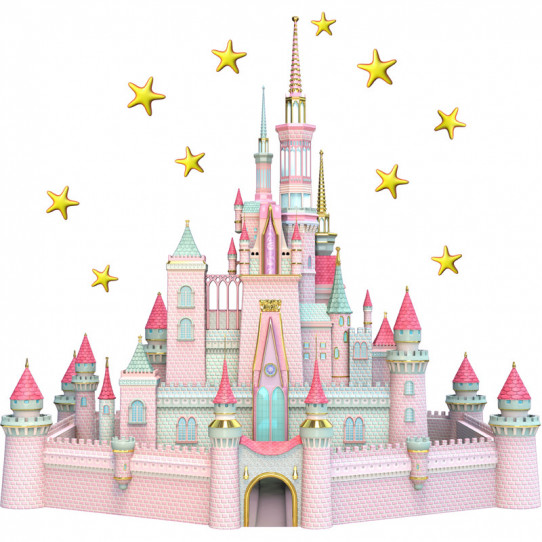 Stickers effet 3D- Château princesse