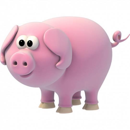 Stickers effet 3D- Cochon