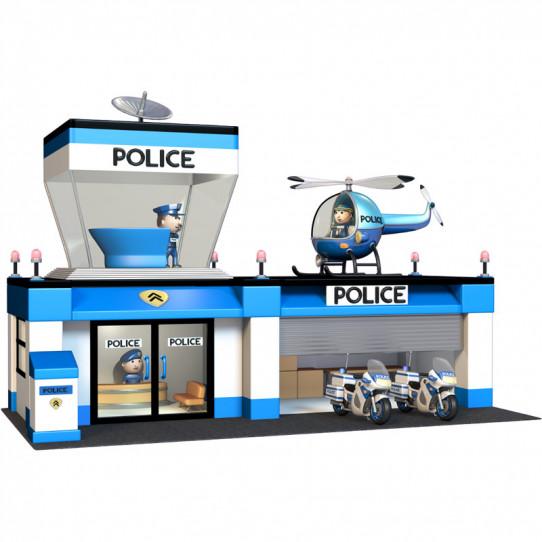 Stickers effet 3D- Commissariat de police