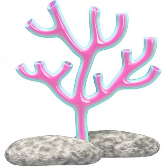 Stickers effet 3D - Corail
