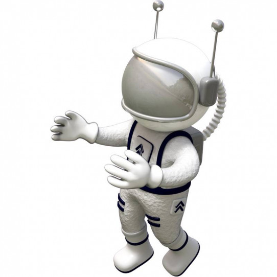 Stickers effet 3D- Cosmonaute