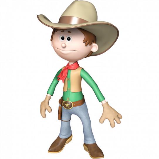 Stickers effet 3D - Cow-boy