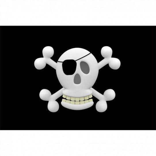 Stickers effet 3D- Drapeau pirate