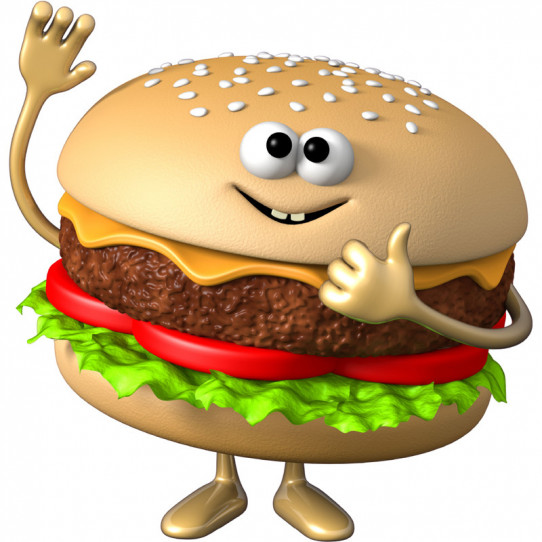 Stickers effet 3D- Hamburger