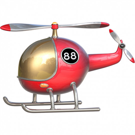 Stickers effet 3D- Hélicoptère 2