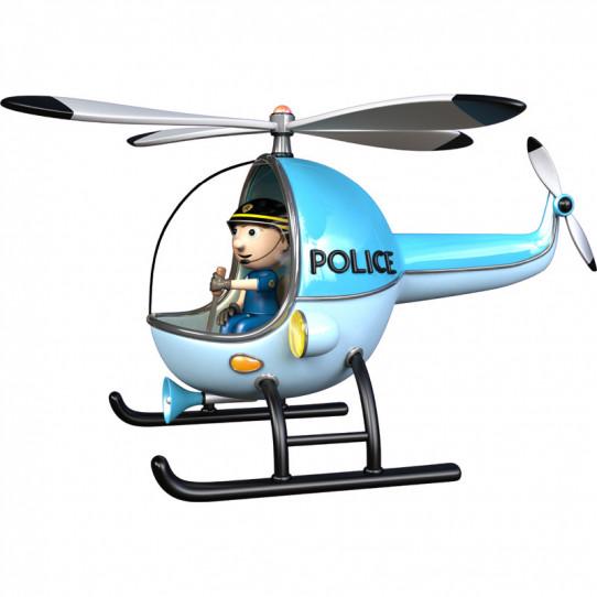 Stickers effet 3D - Hélicoptère de police