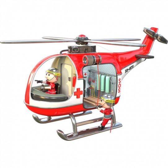 Stickers effet 3D- Hélicoptère de secours