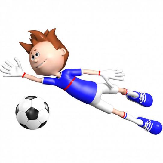 Stickers effet 3D- Joueur de foot 2