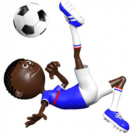 Stickers effet 3D- Joueur de foot 3