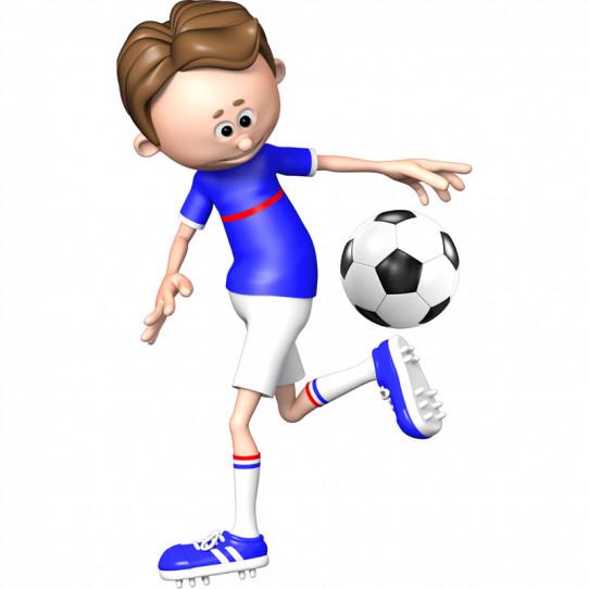 Stickers effet 3D- Joueur de foot 7