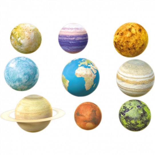 Stickers effet 3D- Kit Planètes