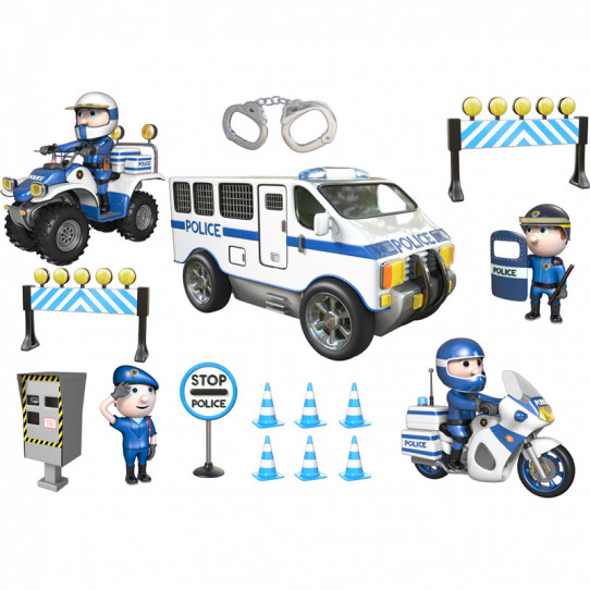 Stickers effet 3D- Kit Police