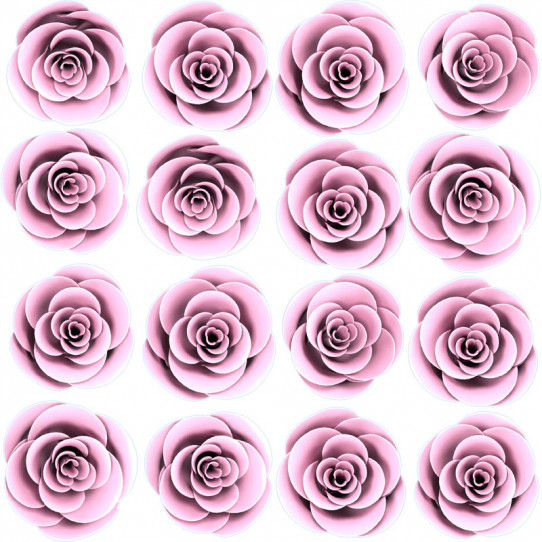 Stickers effet 3D- Kit Roses