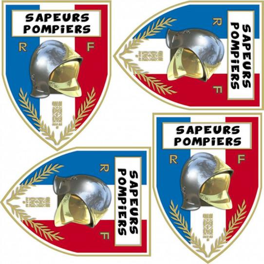 Stickers effet 3D- Kit Sapeurs Pompiers