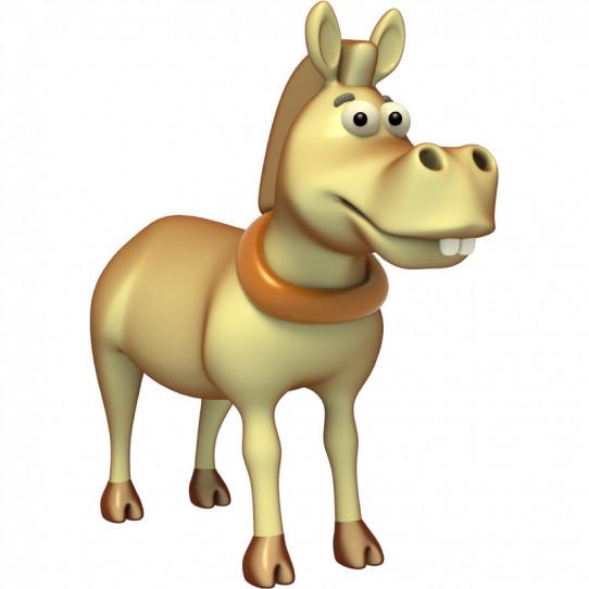 Stickers effet 3D- L'âne