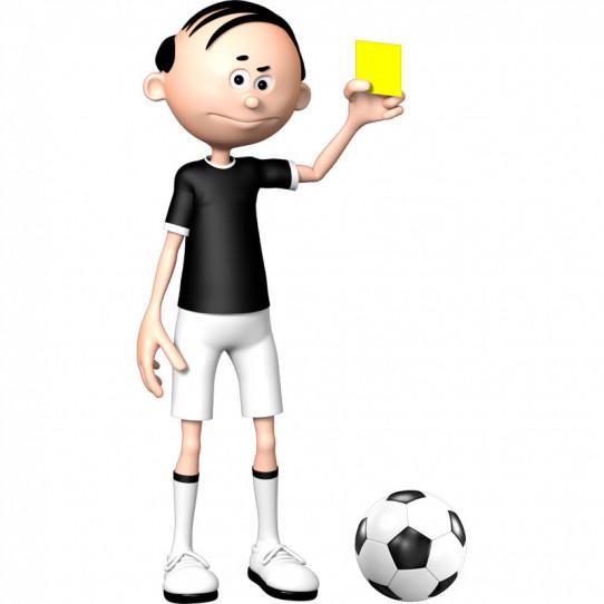 Stickers effet 3D- L'arbitre de foot