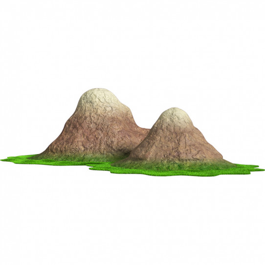 Stickers effet 3D- Montagnes
