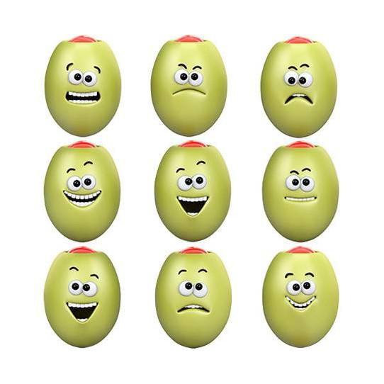 Stickers effet 3D Olives vertes