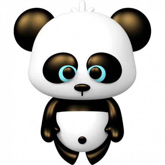 Stickers effet 3D- Panda